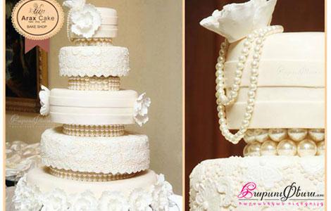 Оригинальный торт для свадьбы