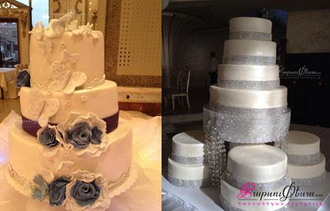 Euphoria cake - свадебный торт с розами