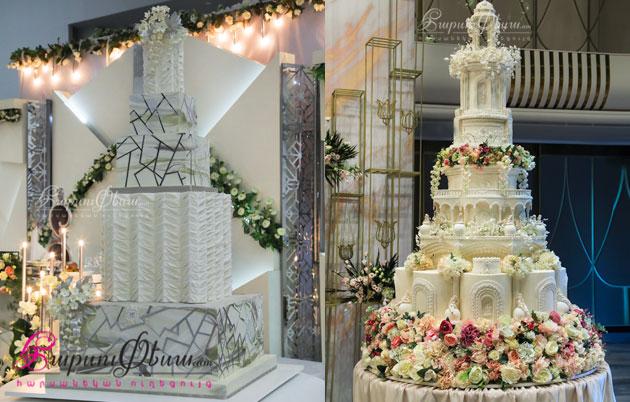 Шикарный свадебный торт от Лаки Десерт Арт Студио