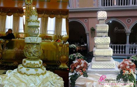 Маремо Кейкс - многоэтажный свадебный торт квадратной формы