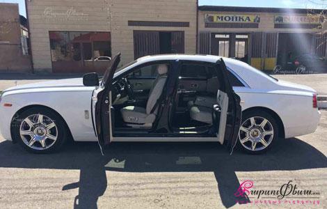 Հարսանեկան մեքենա Rolls-Royce Ghost պատվերով Երևանում