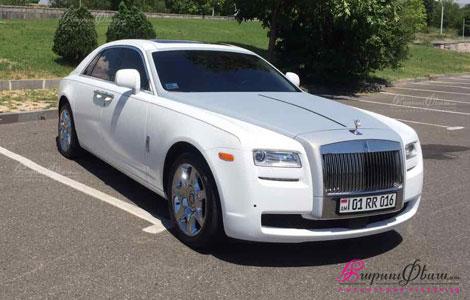 Прокат элитной свадебной машины Роллс-Ройс Гост в Ереване