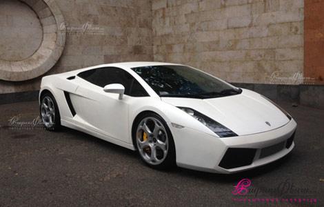 Свадебный автомобиль - белый Ламборгини