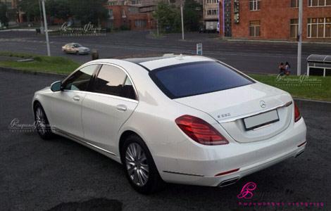 Машина для свадьбы Мерседес S класса (222 кузов)
