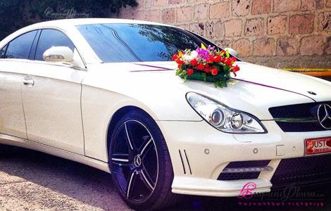 Հարսի մեքենա mercedes CLS սպիտակ գույնի