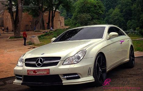 Авто на свадьбу белый мерседес CLS