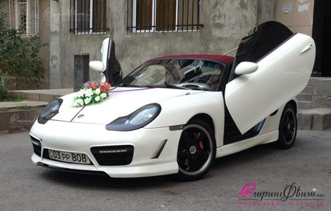 Harsaniqi meqena - Porsche cupe cabriolet spitak guyni