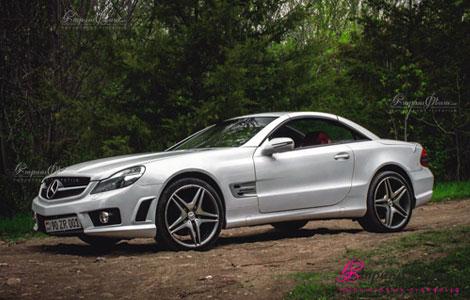 Հարսանեկան մեքենա կուպե կաբրիոլետ Mercedes AMG SL 63 կողքից