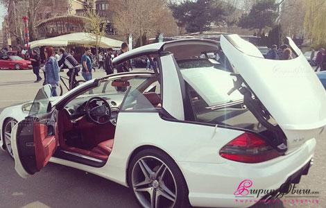 Новый комфортный купе-кабриолет с жесткой крышей для свадьбы Mercedes AMG SL 63