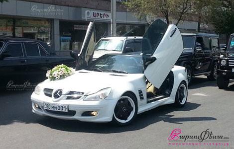 Mercedes SLK հարսանյաց առիթների համար կուպե կաբրիոլետ մեքենա