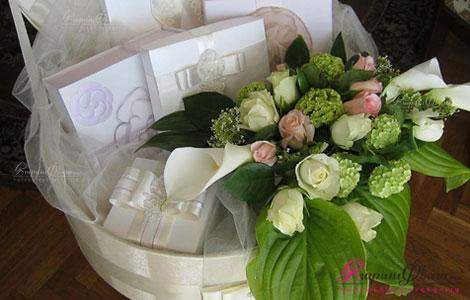 Հարսանեկան ծաղիկների ձևավորում զամբյուղով ՀԱՅՔ Դիզայն
