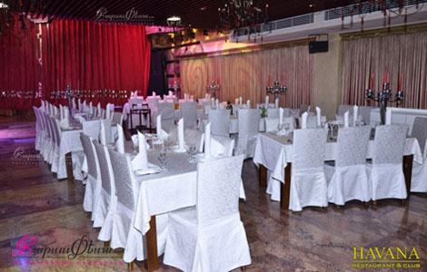 Банкетный зал ресторана Гавана — двухэтажный зал, который предусмотрен для 350-и человек.