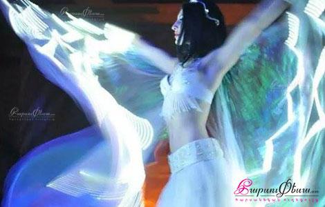 Лианна Хачатрян исполняет свадебное шоу - танец в LED костюме