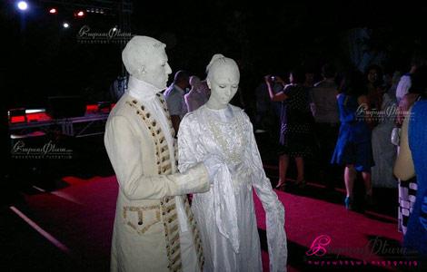 Супер танцевальное шоу в исполнении живых скульптур на свадьбе от Мим Студио