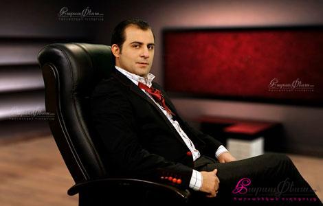 Актер Григор Даниелян на свадебном торжестве
