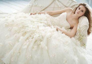 HIGH –WAISTED WEDDING DRESS